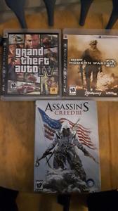 3 jeux ps3 à vendre