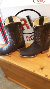 Rockton leather boots