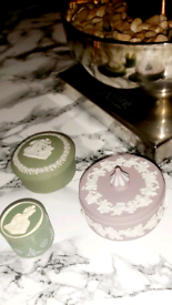 Collection of antique Wedgwood trinket dishes for sale.