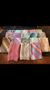 Soft knitted blankets