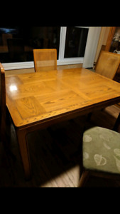 Skyler and Peppler solid wood dining room table and chairs
