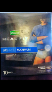 Depends real fit for men  Size L and XL