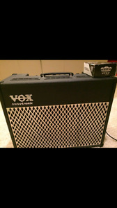 MINT Vox AD50VT tube/solidstate combo amp with footpedal