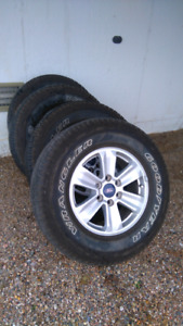 2015 Ford F-150 265/70/r17 tires + rims