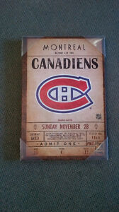 Brand New Collectible NHL Ticket Stub Banners