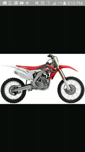 Looking for a 250 cc dirt bike.