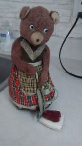 Toy Busy Housekeeper Bear w/ Vacuum