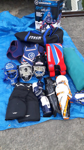Equippement de gardien de but deck hockey