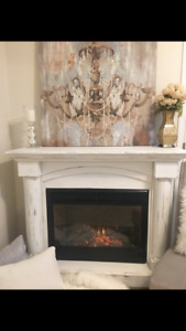 Shaby chic electric fireplace