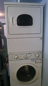 Huebsch stacking commercial washer dryer