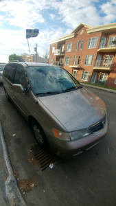 Honda Odyssey 2003 moving out of country