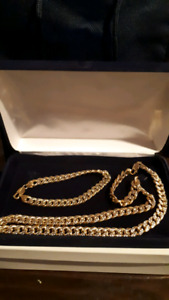 10k gold chain and bracelet