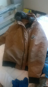 Beaver canoe winter jacket. Down fill and warm.