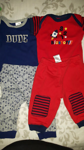 2 baby diaper shirt outfits.  Size 3-6 months