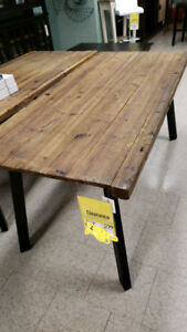 Rustic style dining table - new - the Brick