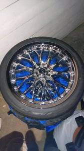 "18"" Core Racing Rims + Brand New Nitto NT850 Premium Tires"