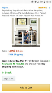 Regalo Easy-Step Extra Wide Baby Gate