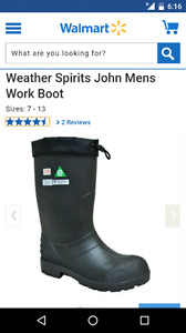 Mens work boots - size 12 - water proof