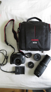 Lightly used Canon REBEL T4i camera with other lenses, etc.