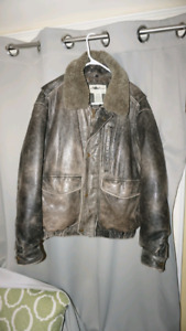 Eddie Bauer Leather Bomber Jacket - Medium (could fit a Large)