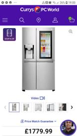 LG InstaView Door-in-Door American Fridge freezer