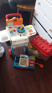 Vtech  shop and cook interactive set includes: food & register