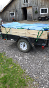 4x8 trailer of horse mañure ready for delivery