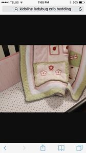 Kidsline Lady Bug 6 piece baby Crib Bedding Set