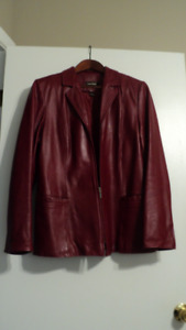 WHAT A DEAL !!!! DANIER RED LEATHER JACKET !
