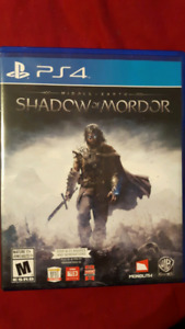 Selling Shadow of Mordor ps4