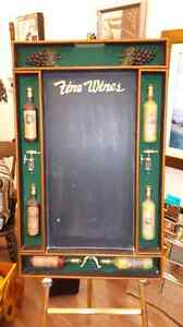Very nice wine board with chalk board  London Ontario image 1