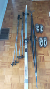 Lampinen skis poles and shoes. Two sets. Mint condition.