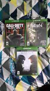 Black ops 3, Fallout 4, and Halo5