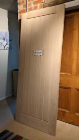Wooden oak door. Howdens Dordogne oak.