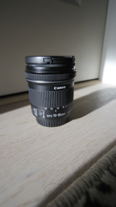 CANON 10-18MM F 4.5-5.6 lens w/ image stabilizer *BARELY USED*