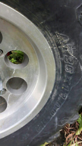 Rims and tires for Quad