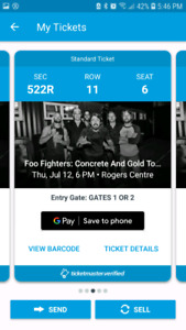 Foo Fighters @Roger's Centre. Sold out show! $90
