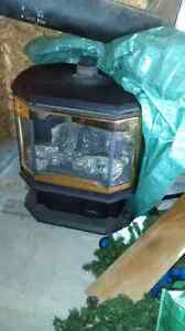 Propane fireplace heater