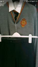 Abbey school uniform and and PE shirt a socks