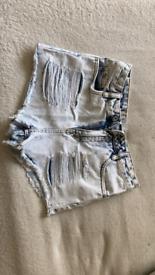 Blue shorts size 8