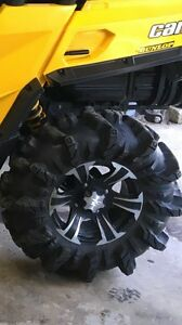 30 inch tire and rim package for can am