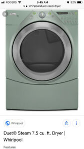 Whirlpool duet 7.3 cu ft dryer. Works great 2yrs old