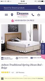 Dreams single divan and mattress for sale
