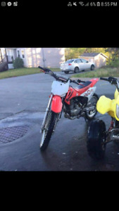 2007 honda crf230 with all gear needed. Cash only.
