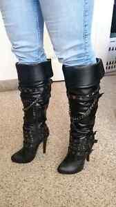 6.5 Mona Mia black boots Kitchener / Waterloo Kitchener Area image 3