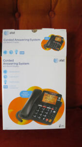 at & t Corded Answering System with Backlit Display,