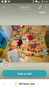 Toy lot with teethers
