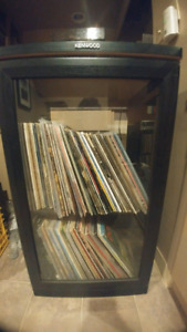 Kenwood stand with vinyl