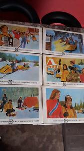 vintage skidoo placemats