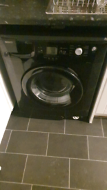 7kg washing machine black works perfect
